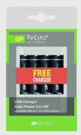 GP AA Batteries Pack 4 - Free USB Charger